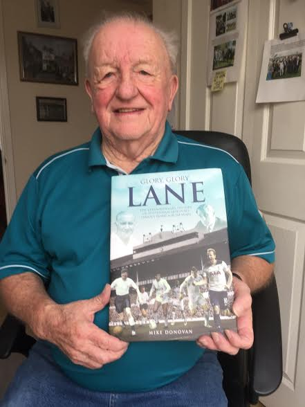 Terry Dyson with the Glory Glory Lane book